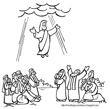 coloring page of jesus ascension jesus ascension coloring page az coloring pages free coloring page