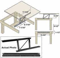 lift up coffee table mechanism with spring assist woodworker com woodtek coffee table lift mechanism