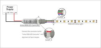 Led Strobe Light Strips by Mini Inline Led Controller For Rgb Million Color Leds U0026 Strip