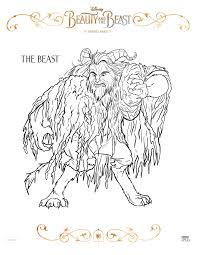 have fun with beauty and the beast coloring sheets beourguest