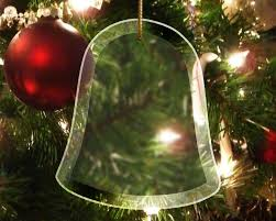 glass bell ornament beveled bell ornament