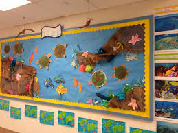 3d bulletin board on the great barrier reef as part of a unit on