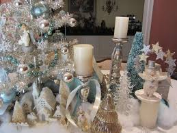 Silver And White Christmas Decorations Unthinkable Blue White And Silver Christmas Decorations Homey