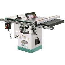 Wood Saw Table Grizzly G0690 Cabinet Table Saw With Riving Knife 10 Inch Power