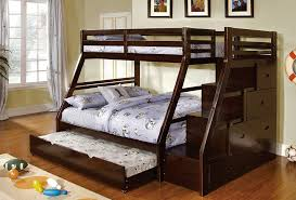 brown twin over twin bunk beds with stairs attractive twin over