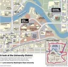 Wsu Map Spokane Has Transformed From A Gritty Railroad Town To A Hub For