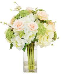 hydrangeas in square vase contemporary artificial flower