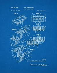 amazon com lego toy building block patent print art poster