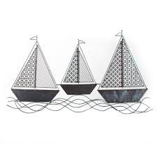 40 in x 23 in sailboat metal wall decor dn0005 the home depot