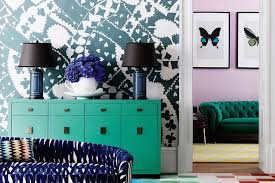 wallpaper and paint feature wall ideas living room walls