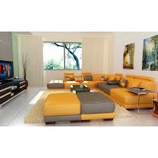 Leather Sectional Sofa With Ottoman by Furniture Yellow Ottoman New Style On Decorating Your Room Fileove