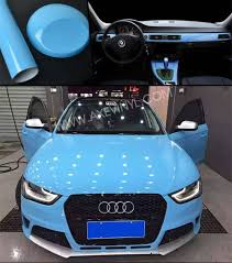 audi color changing car axevinyl car color changing sky blue glossy car stickers