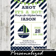 nautical baby shower green and blue nautical baby shower package instant
