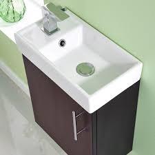 Small Wall Hung Sink Premier Nvx382 400 Mm Minimalist Wall Hung Unit And Basin Ebony