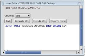 Tsql Alter Table Add Column Db2 Drop Column From A Db2 Database Table Via The Alter Table Command