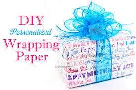 personalized gift wrapping paper diy personalized birthday wrapping paper gift present