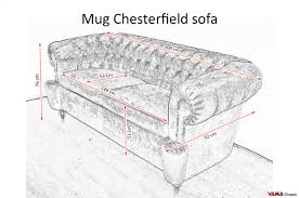 chesterfield sofa with leather covered studs