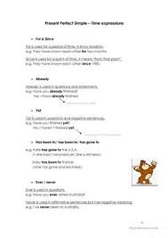 5 free esl simple present time expressions worksheets