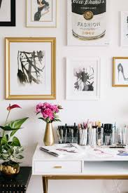 white and gold office inspiration the everygirl decorates