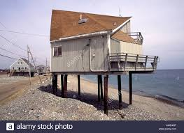 raised beach house stock photos raised beach house stock images an exposed beach house is on pylons to protect it from storm surges stock image