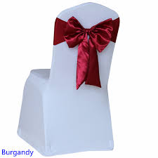 cheap chair sashes wholesale burgandy colour chair sash butterfly style satin sash with lycra