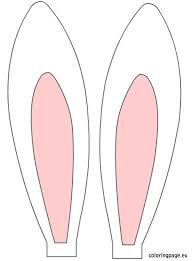 bunny ears coloring page free printable bunny ears easter rabbit ears easter pinterest