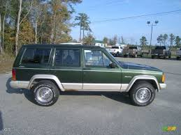 tan jeep cherokee 1996 moss green pearl jeep cherokee country 4wd 56827955 photo 4