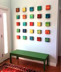 view photo color blend blocks abstract wall art wood wall