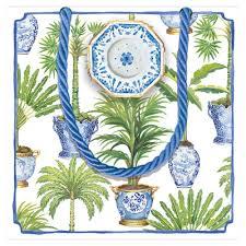 caspari gift bags potted palms small square gift bag 1 each caspari