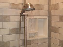 Subway Tile Bathroom Floor Ideas by Fresh Subway Tile Shower Curb 14295
