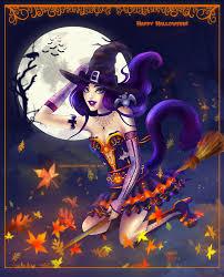 halloween neko witch by lilacattis on deviantart