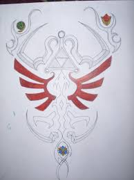 zelda tattoo draft 1 by link1010 on deviantart