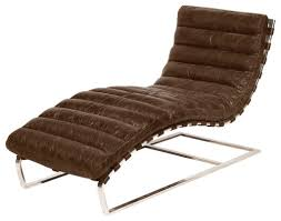 furniture oviedo leather chaise lounge contemporary indoor chaise