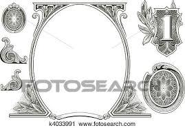 clipart of vector money ornaments k4033991 search clip