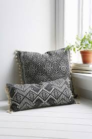 Callisto Home Pillows by Graphic Black U0026 White Throw Pillows With Tassels Home Feels