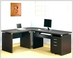 L Desk Modern T Shaped Office Desk L Glass Modern Computer Size Of