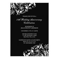 25th wedding anniversary invitations silver wedding anniversary invitations announcements zazzle