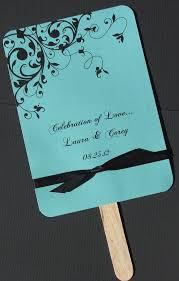 Wedding Program On A Fan Tiffany Blue Wedding Invitation Flourish In Tiffany Blue Wedding