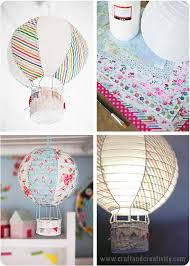 How To Make Paper Air Balloon Lantern - paper lantern turned into air balloon diy paper