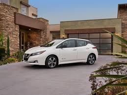 2018 nissan leaf redesigned electric car 150 mi range semi