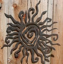 rustic sun wall decor 24 recycled steel custom sun metal