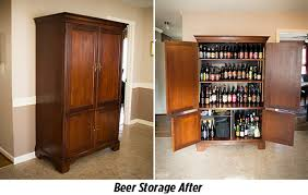 cheap tv armoire craft beer raleigh how to repurpose a tv armoire into a beer cellar