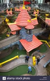 mini golf west edmonton mall stock photos u0026 mini golf west