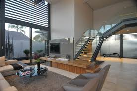 grey stone wall interior layout contemporary villa with wide