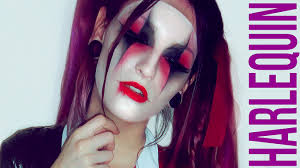 squad harley quinn halloween makeup tutorial harlequin