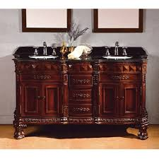Bathroom Vanities Overstock by Ove Decors Birmingham 60 Inch Dark Cherry And Granite Double Sink