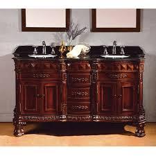 Bathroom Vanities 60 by Ove Decors Birmingham 60 Inch Dark Cherry And Granite Double Sink