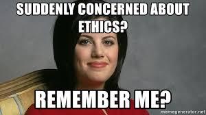 Monica Lewinsky Meme - suddenly concerned about ethics remember me monica lewinsky