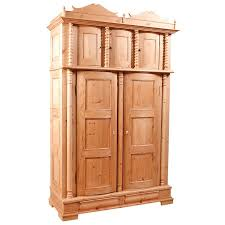 Armoire Ashley Rare Five Door Pine Armoire With Bowed Paneled Doors Scandinavian