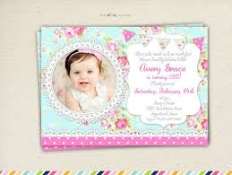 shabby chic birthday invitation cloveranddot com